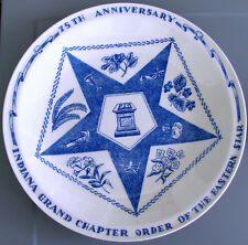 1949 Indiana Grand Chapter Order of the Eastern Star*Vernon Kilns Blue Plate