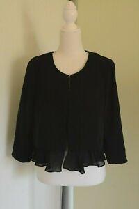 HM Black Short Jacket Hook and Eye Front Size EUR40 Au 10/12
