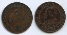 G1538 - Vatikan 2 Soldi 1866 R Roma KM#1373 Papst Pius IX. 1846-1878 Italy
