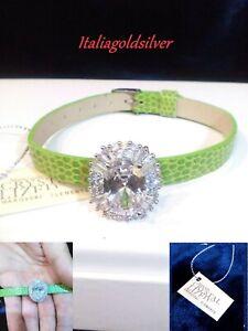 Bracciale Donna SWAROVSKI ORIGINALI Argento 925 Cristalli C.Verde Gioielli Sposa