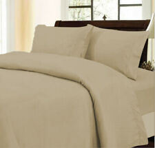 Soft Bedding Collection 1000tc Egyptian Cotton Taupe Solid Select Item