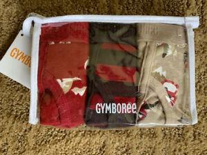 NWT GYMBOREE BOYS BRIEFS UNDERWEAR DOGS DARK RED, BROWN, TAN 3 PACK MEDIUM 7-8