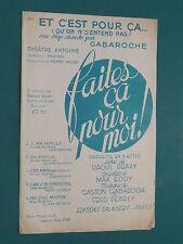 """Partition  Chant """"Et c'est pour ça"""" GABAROCHE PEARLY M. EDDY R. PRAXY"""