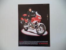 advertising Pubblicità 1999 MOTO CAGIVA GRAN CANYON 900 e ALBERTO TOMBA