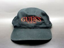 VTG 90's Guess Jeans USA Logo Black Red Snapback Cap Hat ASAP Rocky