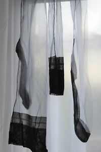 worn Fully Fashioned havana heel vintage sheer nylon stockings lg