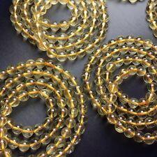 8-7mm Natural Gold Rutile Quartz Stretch Bracelet Round beads / Wholesale
