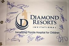 DIAMOND RESORTS INVITATIONAL SIGNED GOLF FLAG 13 SIGNATURES *READ