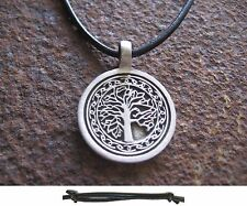 Tree of Life Pendant Leather Black Tree of Life Men's Necklace Necklace