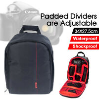 Waterproof Shockproof SLR DSLR Camera Bag Case Backpack For Canon Sony Nikon New