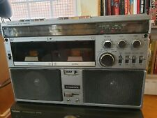 Interstate 9440 Vintage Stereo Dual Cassette system boombox