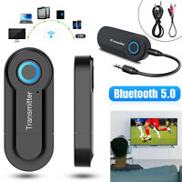 Wireless Bluetooth 5.0 Transmitter Audio RCA 3.5mm AUX USB Adapter Low Latency