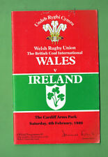 #Bb. 1989 Wales v Ireland Rugby Union Program
