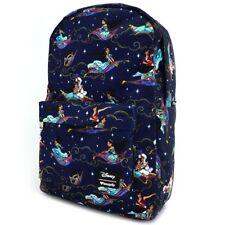 Loungefly Disney Aladdin Carpet Ride Jasmine AOP Bookbag Backpack WDBK0350
