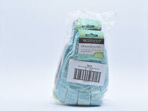 LOT OF 6 EcoTools Exfoliating Bath & Shower Gloves, 6 Pairs, Assorted Colors