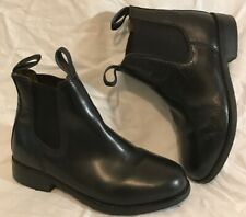 Gallop Jodhpurs Black Ankle Leather Lovely Boots Size 4 (464Q)