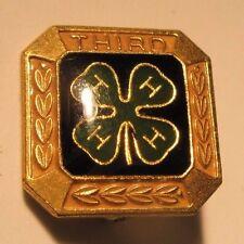 4H Enamel Third Place Vintage Lapel Pin state fair gift