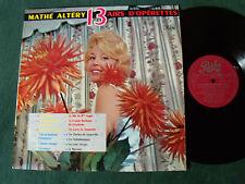 MATHE ALTERY: 13 airs d'opérettes - LP 33T 1960 PATHE STX 120 - Jacques Metehen