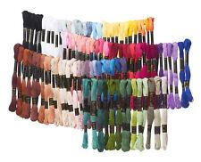 100 Docken Sticktwist Stickgarn 8m 6-fädig Multicolor sticken nähen