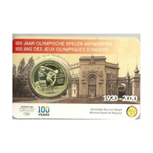 BELGIQUE 2020 2.50 EURO100 ANS DES JEUX OLYMPIQUES D ANVERS COINCARD