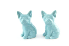 Threshold French Bulldog Tiffany Blue Salt and Pepper Shaker New