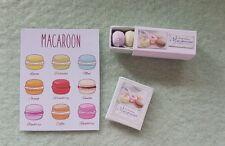 Box of MACAROONS book & poster 1:12th scale dollshouse bakery miniature handmade