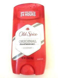 4 pk Old Spice Original High Endurance Deodorant 2.25 oz each Odor Protection