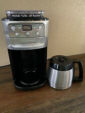Cuisinart DGB-900BC Burr Grind & Brew 12-Cup Automatic Thermal Coffee Maker -EUC