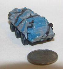 Small  Micro Machine Plastic Military Fuch 6X6 APC in Blue/Black/Gray Camo