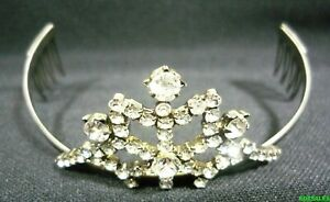 Vintage Crystal Tiara Hair Band Princess Crown Rhinestone Headband