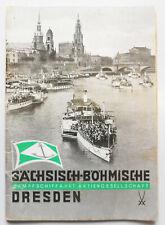 Saxon Bohémien Dampfschifffahrt Ag Dresden Faire 1940 (H6