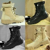 UK Vintage Mens Forces Military Boots Leather Boot SWAT Tactical Combat Boots