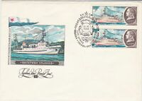 russia 1980 ships arctic antarctic polar stamps cover ref 20775