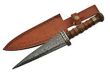 """Celtic Scottish  Genuine Damascus Sgian Skean Dubh Dirk Dagger 12"""" Knife ON SALE"""