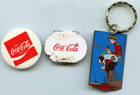 Coca-Cola Vintage Keychain Mirror Can Bottle Opener Lot Set Coke Collection BP44