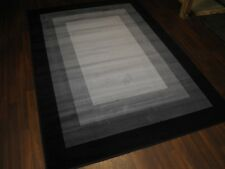 TOP QUALITY BARGAIN  RUGS BLACK/SILVER 160X230CM APPROX 8X5FT BEST AROUND WOVEN