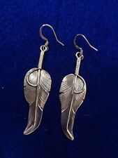 Navajo Feather Earrings sterling silver by Charley