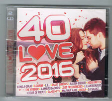 40 LOVE 2016 - 2 CD SET 40 TRACKS - 2016 - NEUF NEW NEU