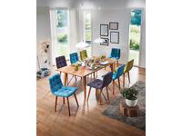 Massivholz Esstisch Esszimmertisch Holz Tisch 200x100 cm MERLIN Wildeiche geölt