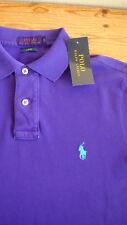 Neuf £ 75 ralph lauren purple-Neon 100% Coton Coupe Slim Polo Shirt S 36-38; EU-46