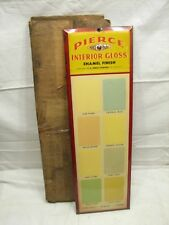 Vintage Pierce Paints Advertising Sign Swatch Sample w/Box Hardware Store House