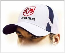 DODGE unisex Baseball Cap Hat. 100% cotton. White color. Adjustable size!!!