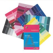 """Winter-Farbpass, 30 Farben """"Active"""" zur Farbberatung - Farbfächer Wintertyp"""