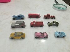 9 Vintage Pressed Steel Metal Diecast Cars Trucks Tootsie Toys Midge Toys