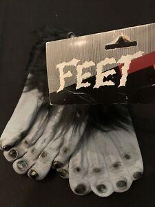 Gorilla Feet Black Ape Halloween Monster Shoes NOS New!