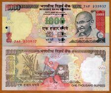 India, 1000 Rupees, 2006, P-100a, UNC > Gandhi