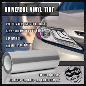"Clear Protective Vinyl Film Tint Headlight Taillight Fog Wrap 12""x48"" 1 x 4 FT"