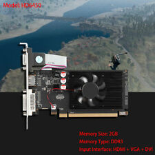 Game Video Graphics Card GPU HD 6450 2GB DDR3 64Bit VGA/DVI/HDMI PCI-Expressx