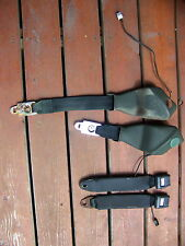 1972 PLYMOUTH BARRACUDA GREEN FRONT SEAT BELTS OEM 70 71 73 74