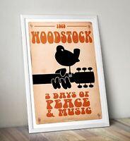 Woodstock reworked Art Print, Woodstock Poster, Woodstock Print 1969